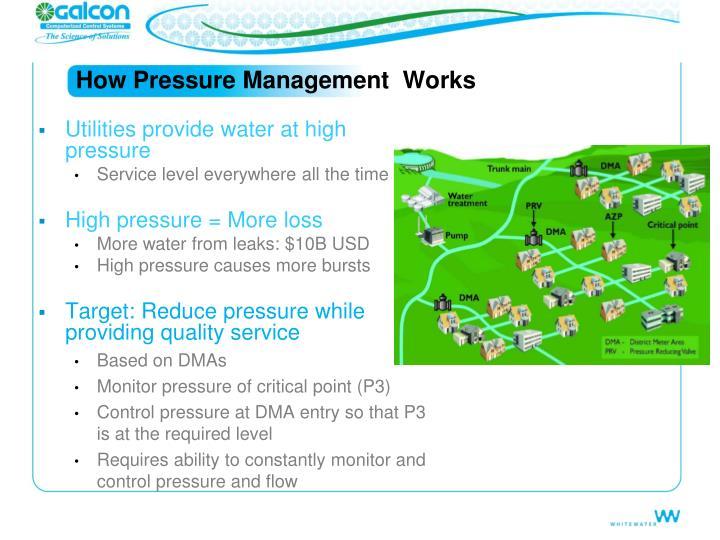 How Pressure Management  Works
