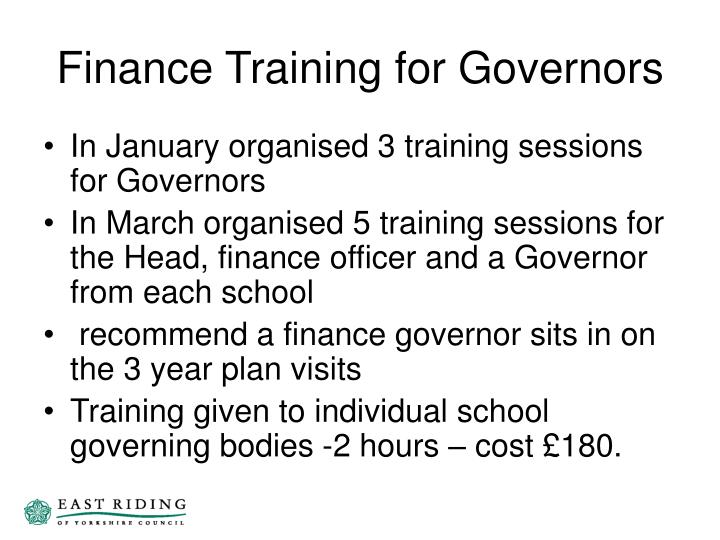 Finance Training for Governors