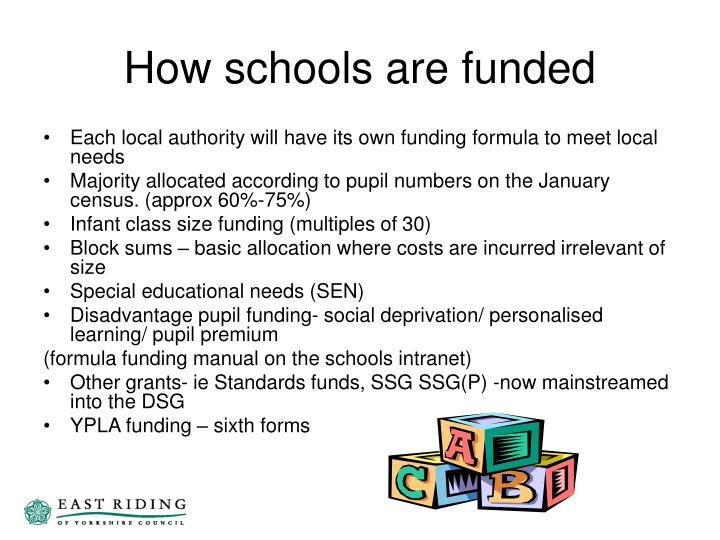 How schools are funded