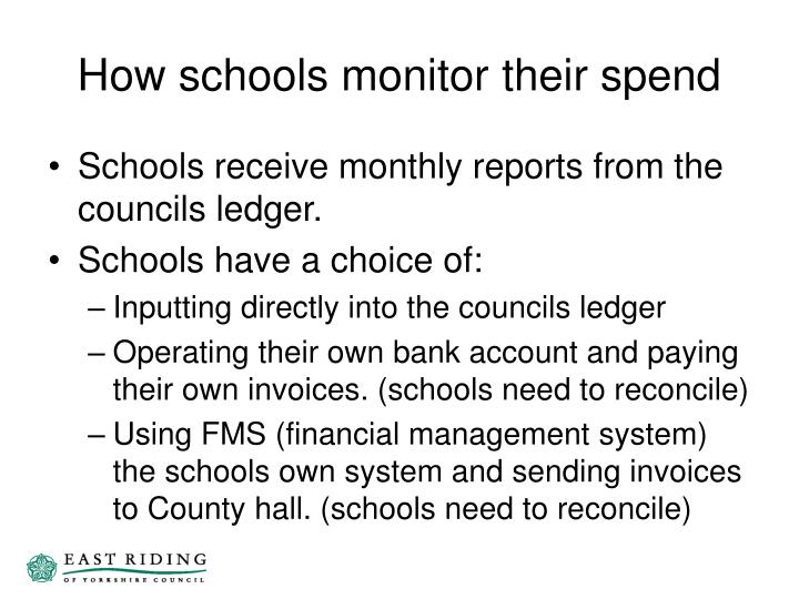 How schools monitor their spend