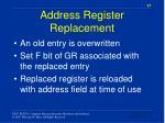address register replacement