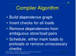compiler algorithm