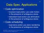 data spec applications