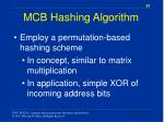 mcb hashing algorithm1