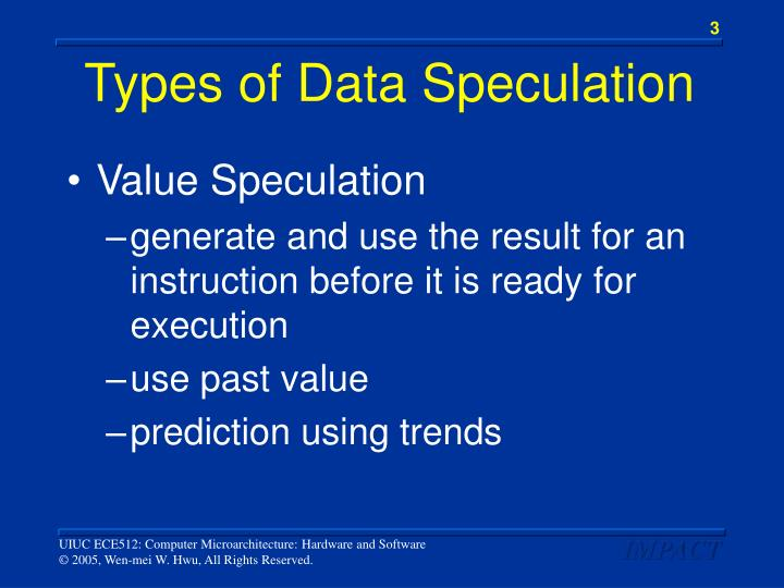 Types of data speculation1