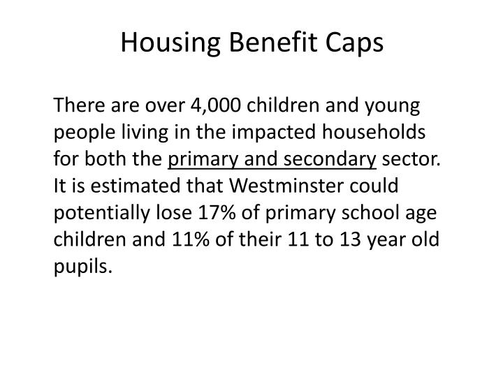 Housing Benefit Caps