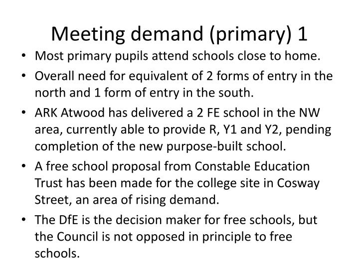 Meeting demand primary 1