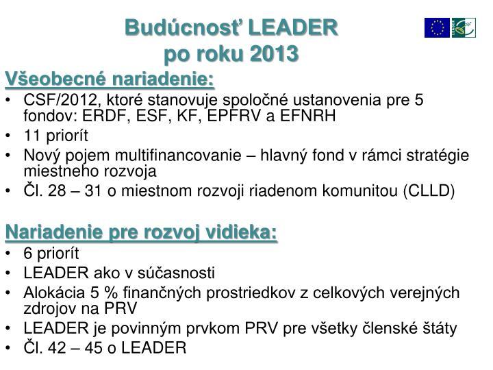 Budúcnosť LEADER