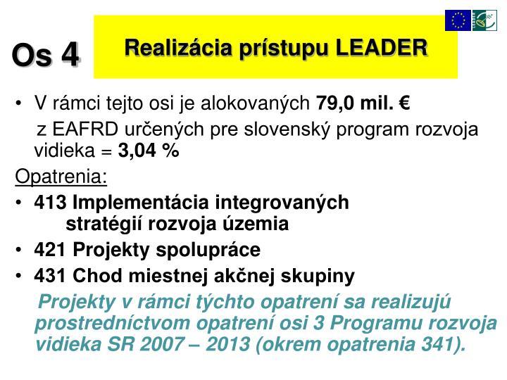 Realizácia prístupu LEADER