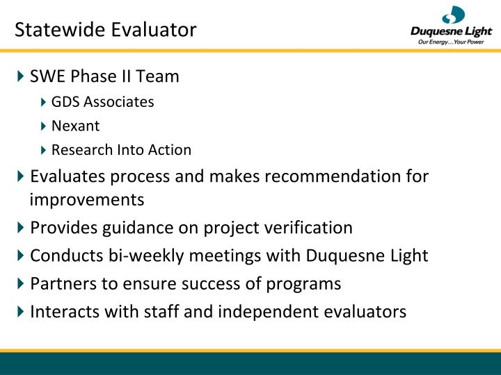 Statewide Evaluator