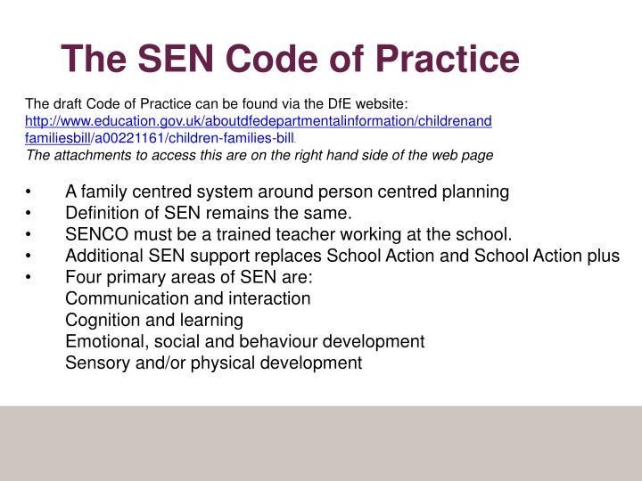 The SEN Code of Practice