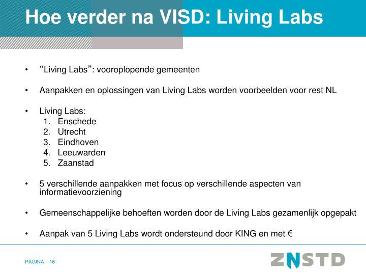 Hoe verder na VISD: Living Labs