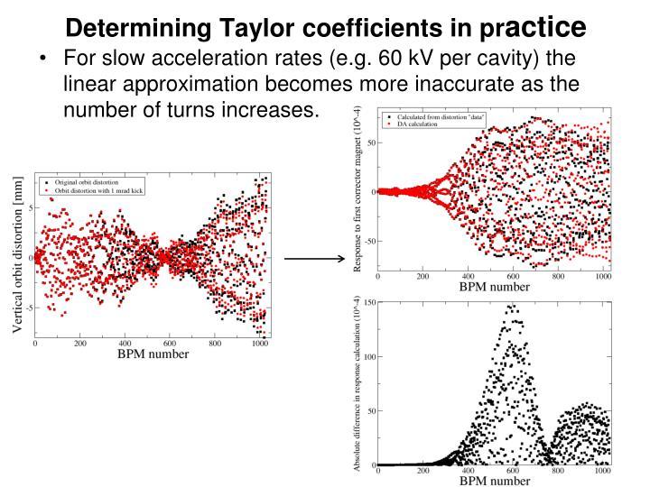 Determining Taylor coefficients in pr