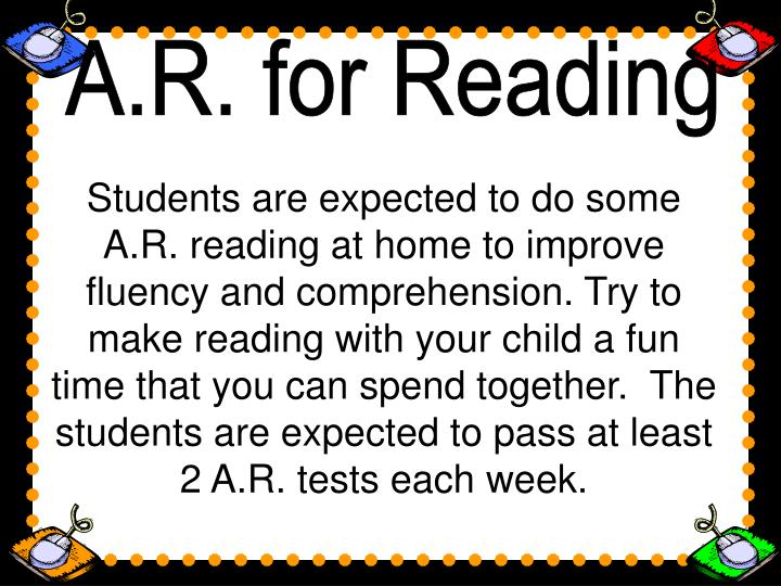 A.R. for Reading