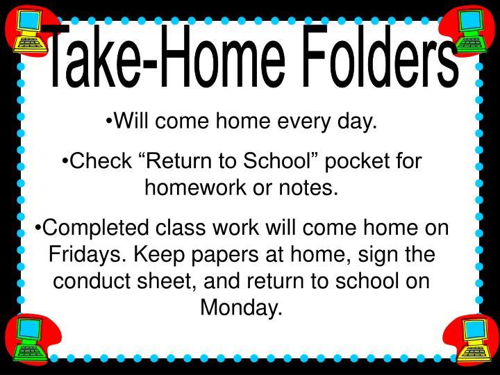 Take-Home Folders