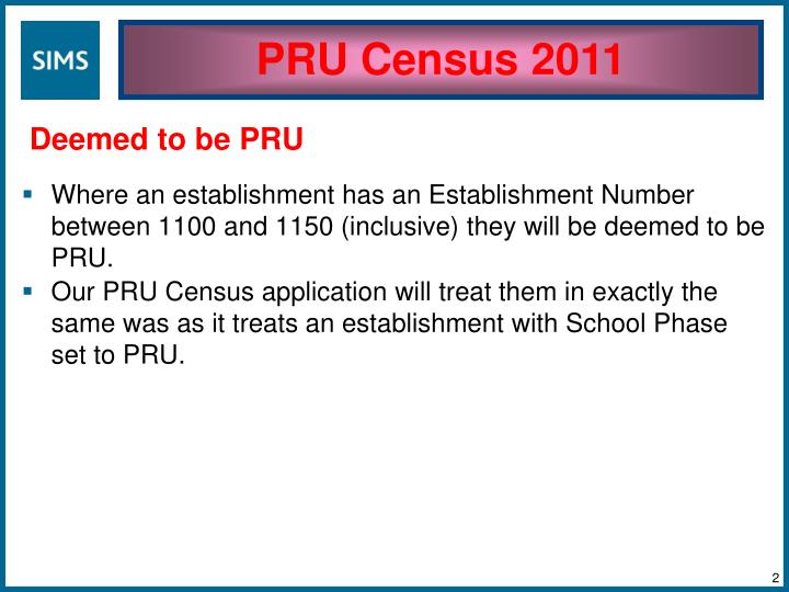 PRU Census 2011