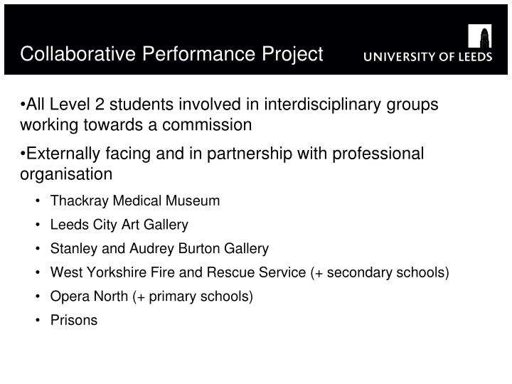 Collaborative Performance Project