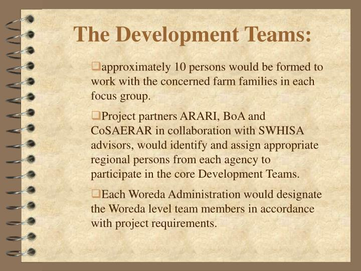 The Development Teams: