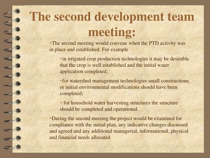 The second development team meeting: