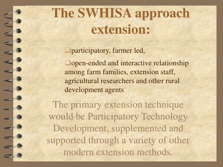 The SWHISA approach extension: