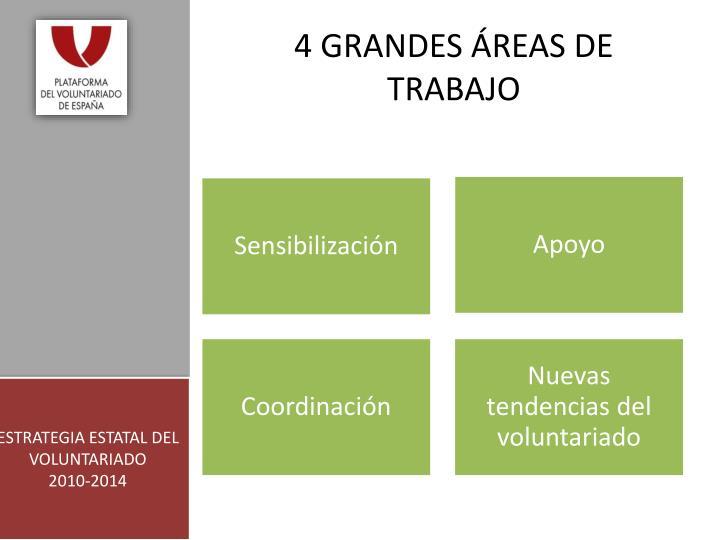 4 GRANDES ÁREAS DE TRABAJO