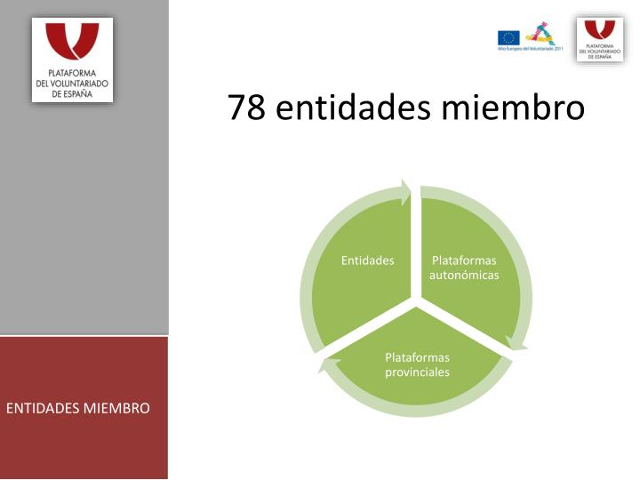 78 entidades miembro