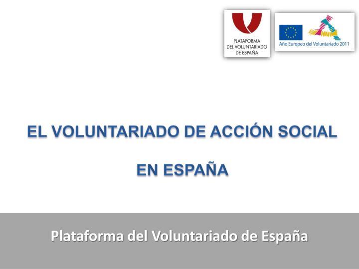 plataforma del voluntariado de espa a