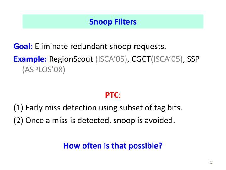 Snoop Filters