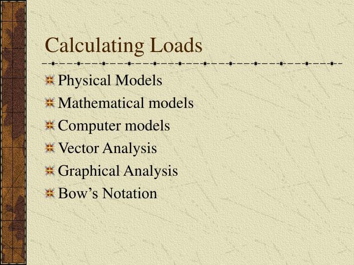 Calculating Loads