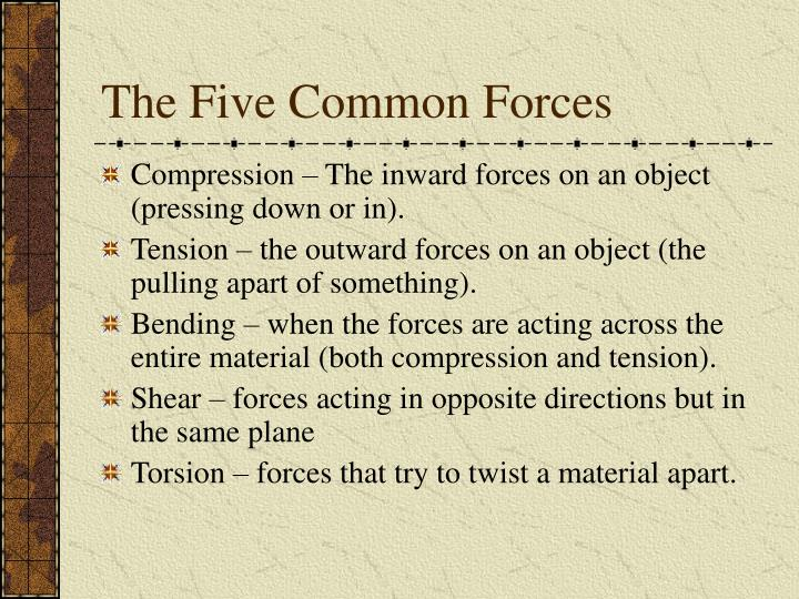 The Five Common Forces