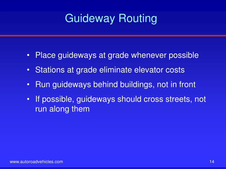 Guideway Routing