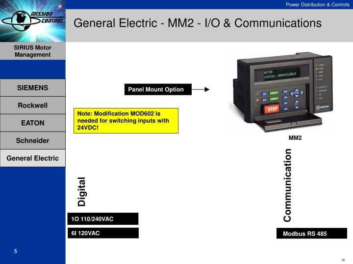 General Electric - MM2 - I/O & Communications
