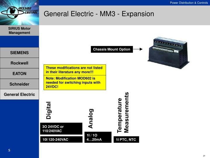 General Electric - MM3 - Expansion