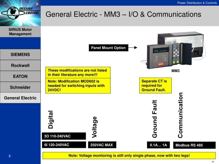 General Electric - MM3 – I/O & Communications