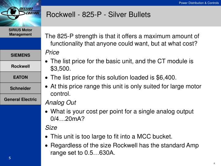 Rockwell - 825-P - Silver Bullets