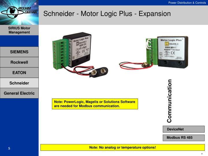 Schneider - Motor Logic Plus - Expansion
