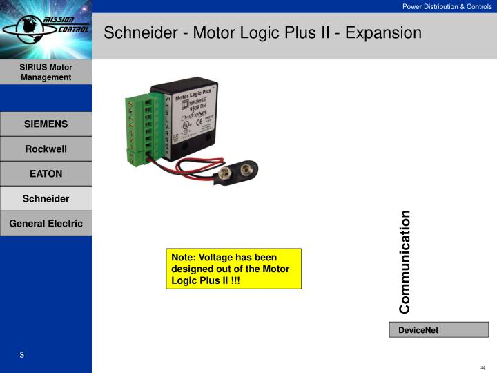 Schneider - Motor Logic Plus II - Expansion