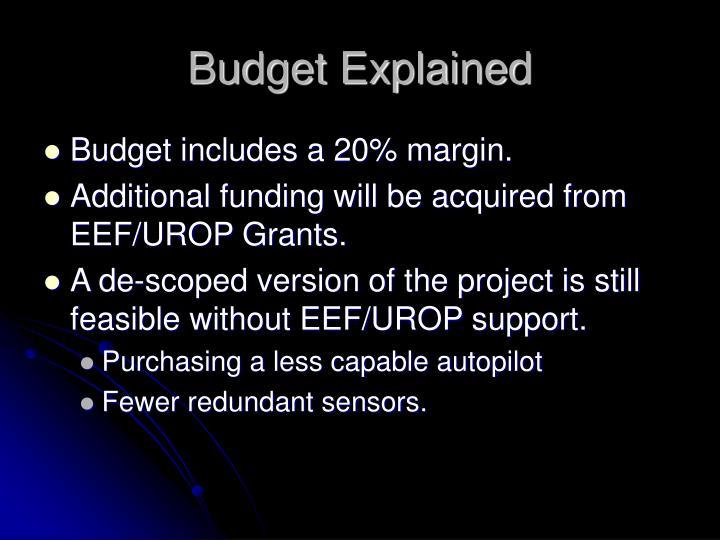 Budget Explained