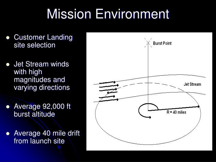 Mission Environment