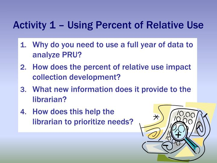 Activity 1 – Using Percent of Relative Use