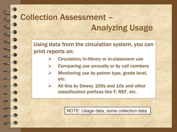 Collection Assessment –