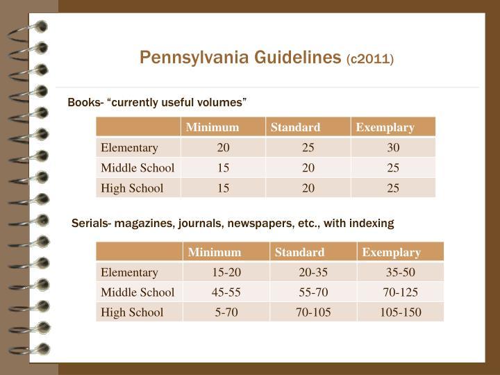 Pennsylvania Guidelines