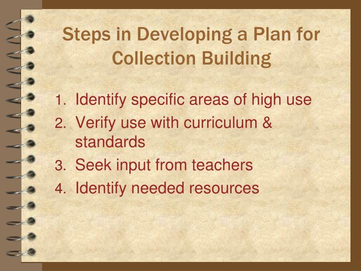 Steps in Developing a Plan for Collection Building