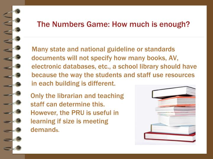 The Numbers Game: How much is enough?