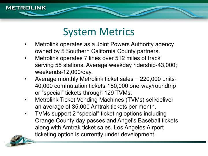 System Metrics