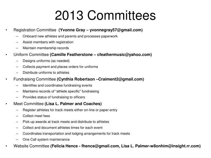 2013 Committees