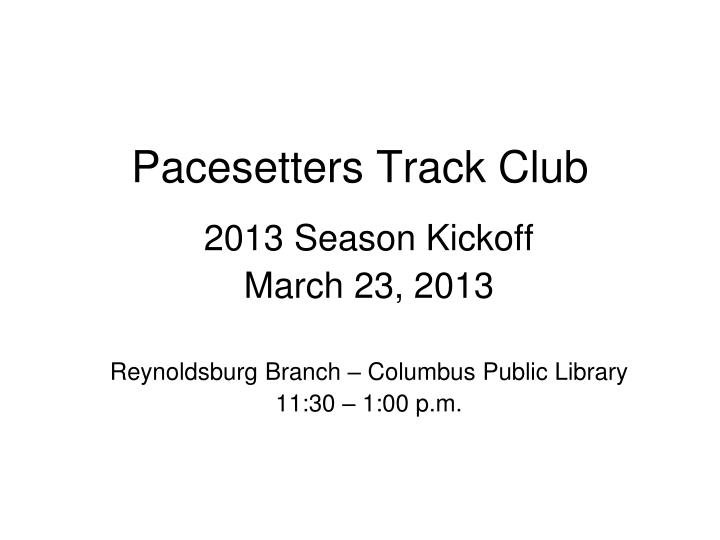 pacesetters track club