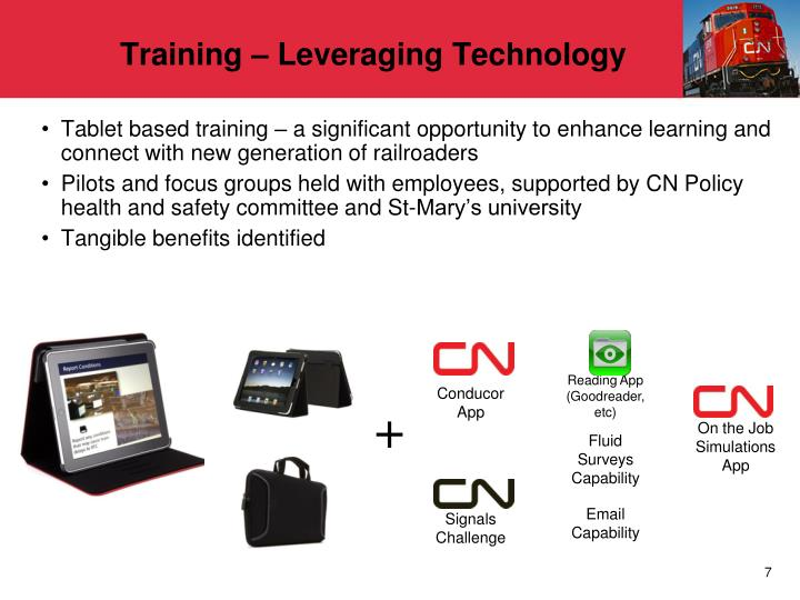Training – Leveraging Technology