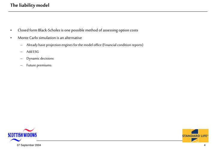 The liability model