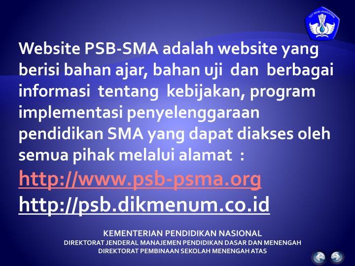Website PSB-SMA